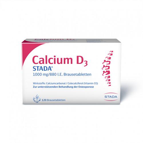 Calcium D3 STADA 1000mg/880 I.E. Brausetabletten, 120 ST, STADA GmbH