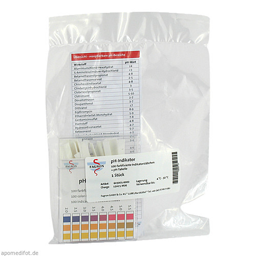 pH-Indikator Teststreifen, 1X100 ST, Fagron GmbH & Co. KG
