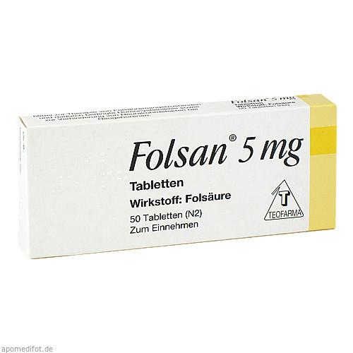 Folsan 5mg, 50 ST, Teofarma S.R.L.
