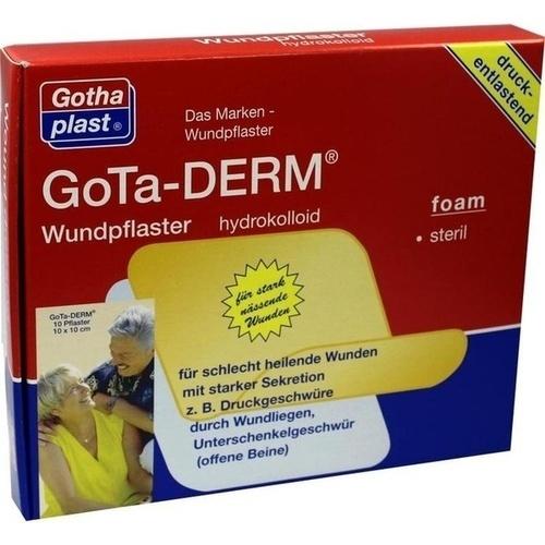 GoTa-DERM foam Hydrokolloid steril 10x10cm, 10 ST, Gothaplast GmbH