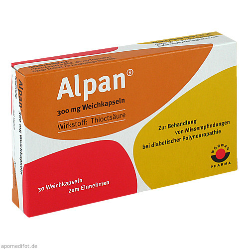 Alpan 300mg Weichkapseln, 30 ST, Wörwag Pharma GmbH & Co. KG