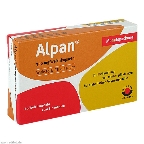 Alpan 300mg Weichkapseln, 60 ST, Wörwag Pharma GmbH & Co. KG