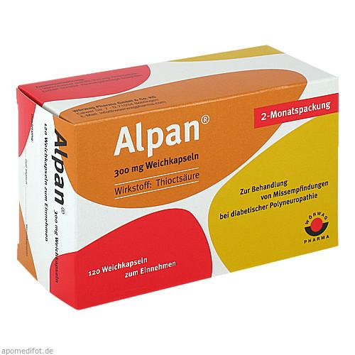 Alpan 300mg Weichkapseln, 120 ST, Wörwag Pharma GmbH & Co. KG