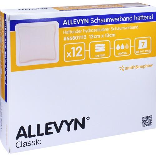 ALLEVYN Schaumverband Haftend 12x13cm, 12 ST, Smith & Nephew GmbH
