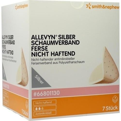 ALLEVYN Silber Schaumverband Ferse Nicht Haftend, 7 ST, Smith & Nephew GmbH