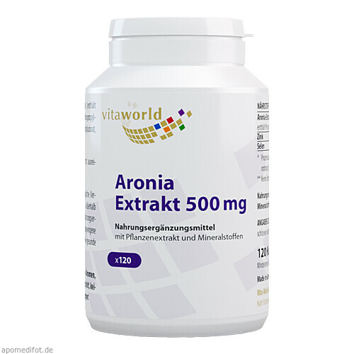 Aronia Extrakt 500mg, 120 ST, Vita World GmbH