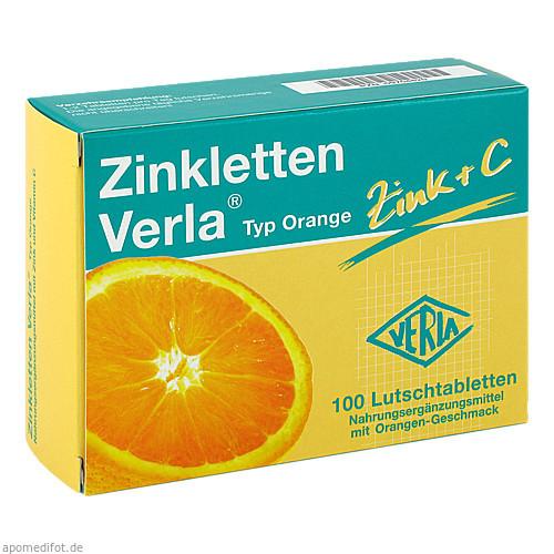 Zinkletten Verla Orange, 100 ST, Verla-Pharm Arzneimittel GmbH & Co. KG