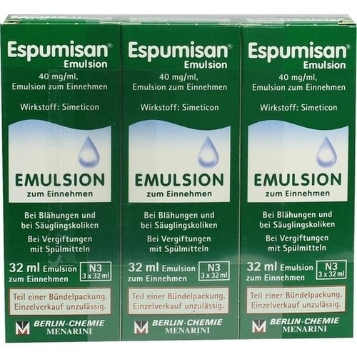 Espumisan Emulsion, 3X32 ML, Berlin-Chemie AG