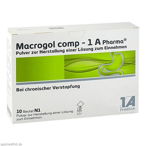 MACROGOL comp 1A Pharma Plv.z.Her.e.Lsg.z.Einn., 10 ST, 1 A Pharma GmbH