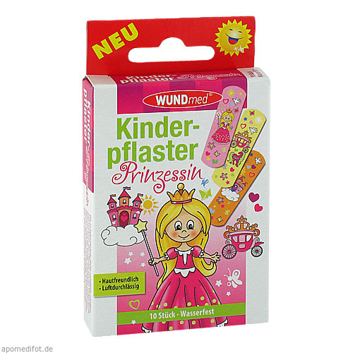 Kinderpflaster Prinzessin, 10 ST, Axisis GmbH
