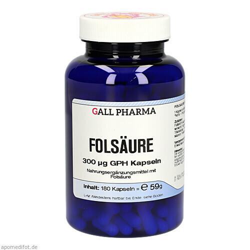 Folsäure 300ug GPH Kapseln, 180 ST, Hecht-Pharma GmbH