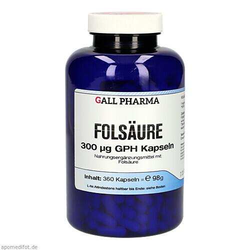 Folsäure 300ug GPH Kapseln, 360 ST, Hecht-Pharma GmbH