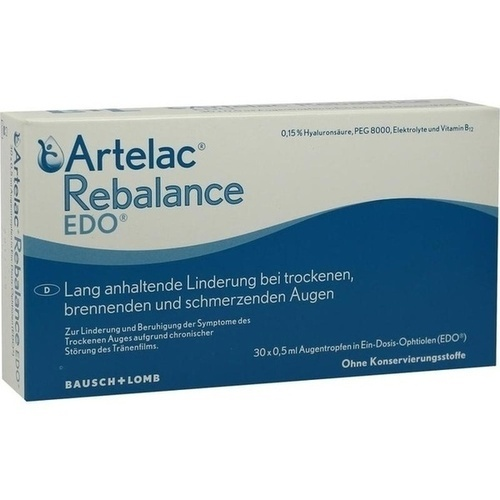Artelac Rebalance EDO, 30X0.5 ML, Dr. Gerhard Mann