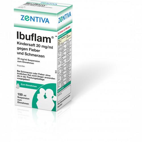 Ibuflam Kindersaft20mg/ml gegen Fieber u.Schmerzen, 100 ML, Zentiva Pharma GmbH