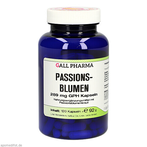 Passionsblumen 289 mg GPH Kapseln, 120 ST, Hecht-Pharma GmbH