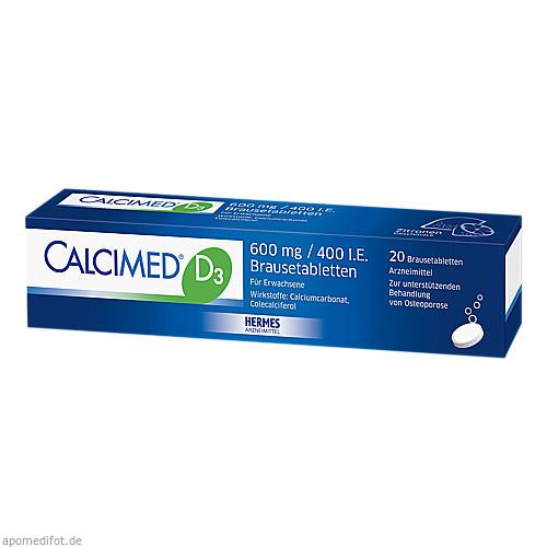 Calcimed D3 600mg/400 I.E., 20 ST, Hermes Arzneimittel GmbH