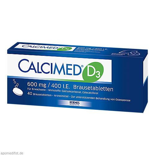 Calcimed D3 600mg/400 I.E., 40 ST, Hermes Arzneimittel GmbH
