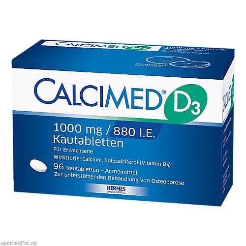 Calcimed D3 1000mg/880 I.E., 96 ST, Hermes Arzneimittel GmbH