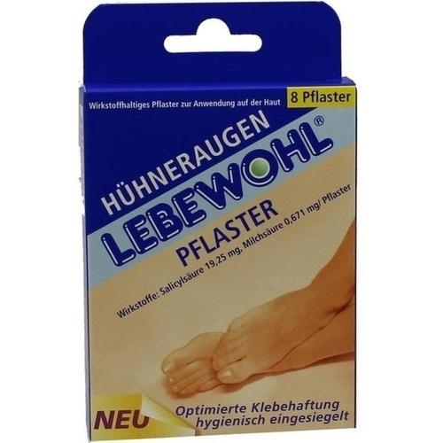 Lebewohl Hühneraugen Pflaster, 8 ST, Lebewohl-Fabrik GmbH & Co. KG