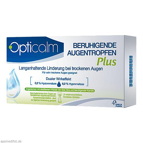 Opticalm Beruhigende Augentropfen Plus, 20X0.5 ML, Omega Pharma Deutschland GmbH