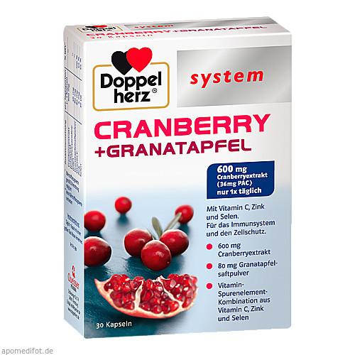 Doppelherz Cranberry + Granatapfel system, 30 ST, Queisser Pharma GmbH & Co. KG
