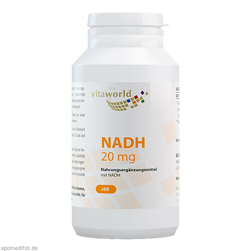 NADH 20mg, 60 ST, Vita World GmbH
