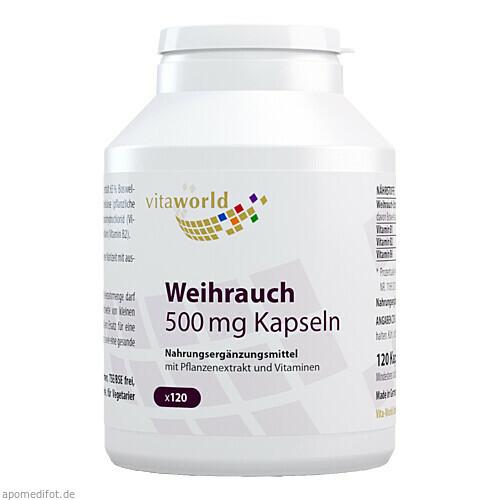 Weihrauch 500mg Kapseln, 120 ST, Vita World GmbH