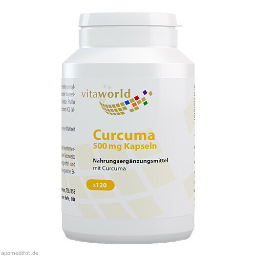 Curcuma 500mg, 120 ST, Vita World GmbH