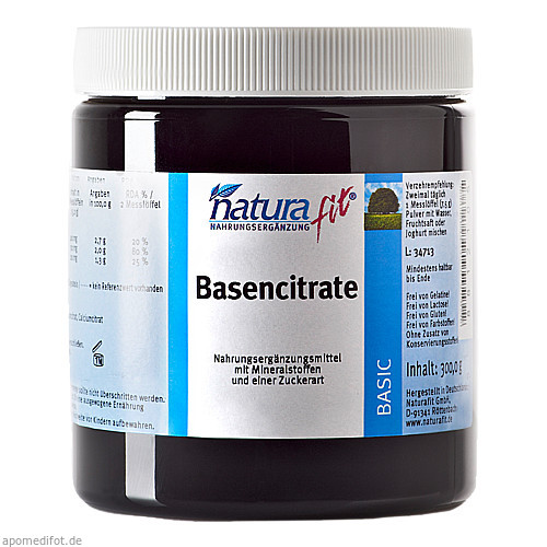 Naturafit Basencitrate, 300 G, Naturafit GmbH