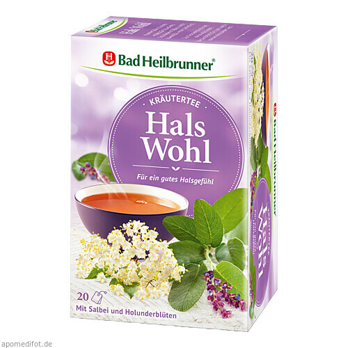 Bad Heilbrunner Kräutertee Hals Wohl, 20X2.0 G, Bad Heilbrunner Naturheilmittel GmbH & Co. KG