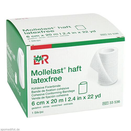Mollelast haft latexfrei weiß 6cm x 20m gedehnt, 1 ST, Lohmann & Rauscher GmbH & Co. KG