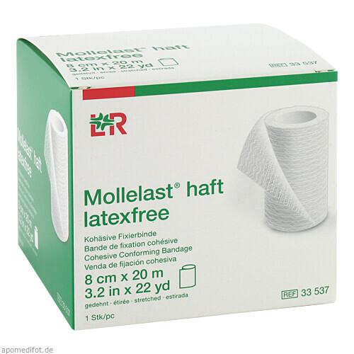 Mollelast haft latexfrei weiß 8cm x 20m gedehnt, 1 ST, Lohmann & Rauscher GmbH & Co. KG