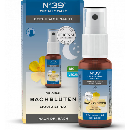 Bachblüten Notfall No. 39 Spray Nacht, 20 ML, Lemon Pharma GmbH & Co. KG