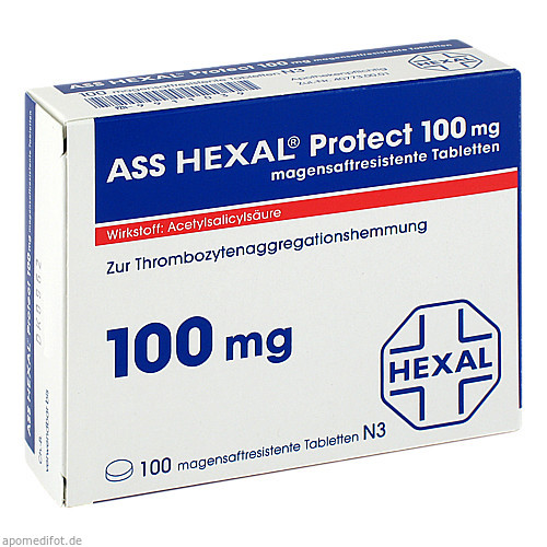 ASS HEXAL Protect 100mg magensaftresistente Tab, 100 ST, HEXAL AG