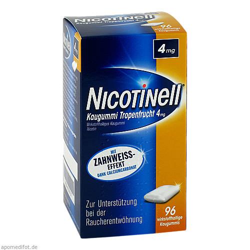 Nicotinell Kaugummi Tropenfrucht 4mg, 96 ST, GlaxoSmithKline Consumer Healthcare