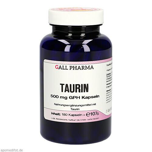 Taurin 500 mg GPH Kapseln, 180 ST, Hecht-Pharma GmbH