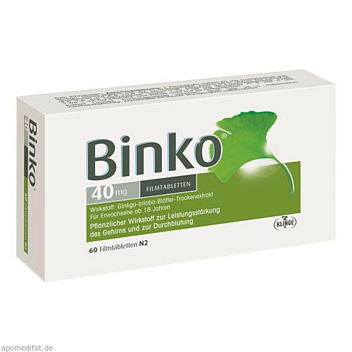 BINKO 40 MG, 60 ST, Klinge Pharma GmbH