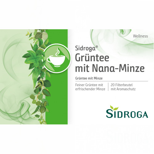 Sidroga Wellness Grüntee mit Nana-Minze, 20X1.5 G, Sidroga Gesellschaft Für Gesundheitsprodukte mbH