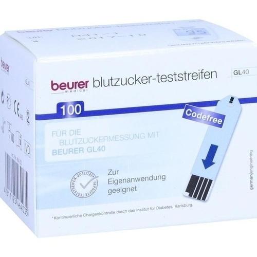 Beurer GL 40 Blutzuckerteststreifen, 100 ST, Beurer GmbH Gesundheit und Wohlbefinden