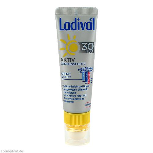 Ladival Aktiv Sonnenschutz f.Gesicht u.Lipp. LSF30, 1 P, STADA Consumer Health Deutschland GmbH