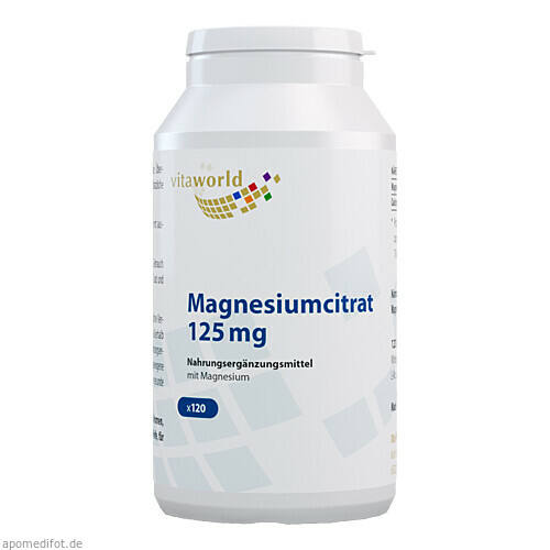 Magnesiumcitrat 125mg, 120 ST, Vita World GmbH