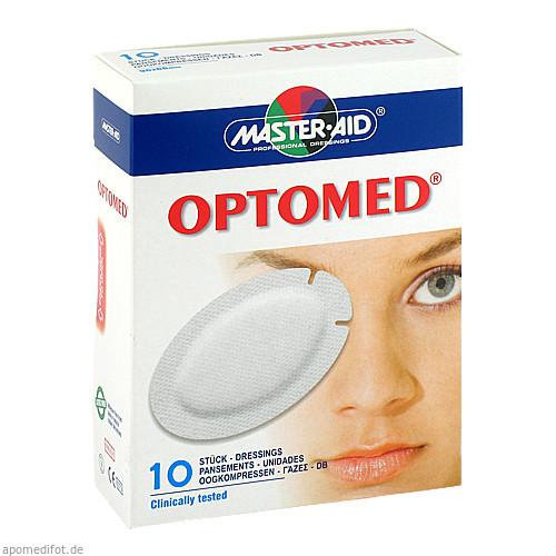 OPTOMED Augenkompresse selbstklebend steril, 10 ST, Trusetal Verbandstoffwerk GmbH