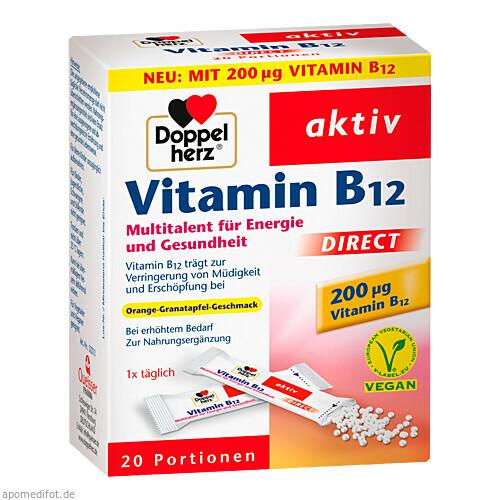 Doppelherz Vitamin B12 direct, 20 ST, Queisser Pharma GmbH & Co. KG