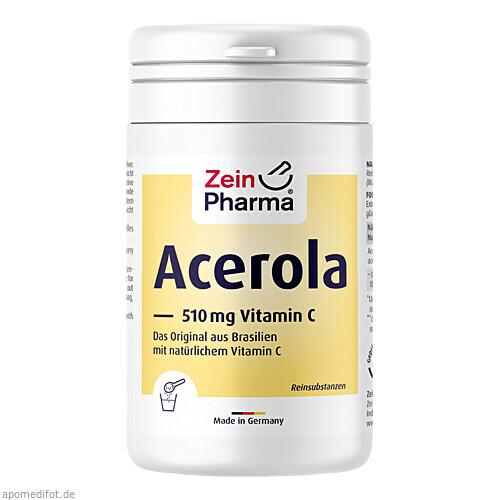 Acerola pur Pulver mit Vitamin C, 150 G, Zein Pharma - Germany GmbH