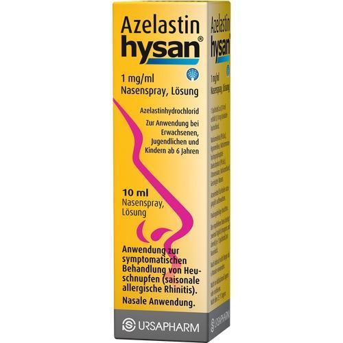 AZELASTIN hysan 1 mg/ml Nasenspray, 10 ML, URSAPHARM Arzneimittel GmbH
