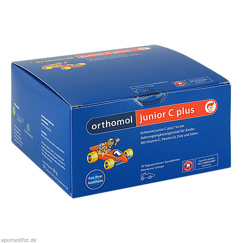 Orthomol Junior C plus Mandarine/Orange, 30 ST, Orthomol Pharmazeutische Vertriebs GmbH