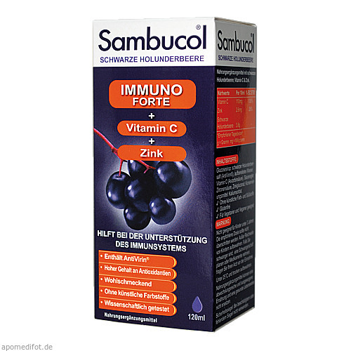 Sambucol Immuno Forte Saft, 120 ML, Apofit Arzneimittelvertrieb GmbH