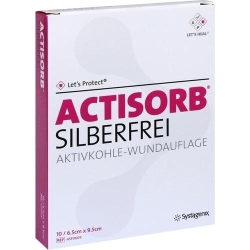 ACTISORB SILBERFREI 6.5x9.5 cm, 10 ST, Kci Medizinprodukte GmbH