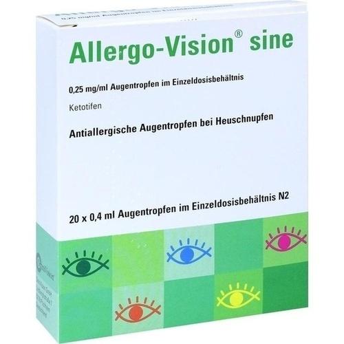 Allergo-Vision sine 0.25 mg/ml AT im Einzeldos.beh, 20X0.4 ML, Omnivision GmbH