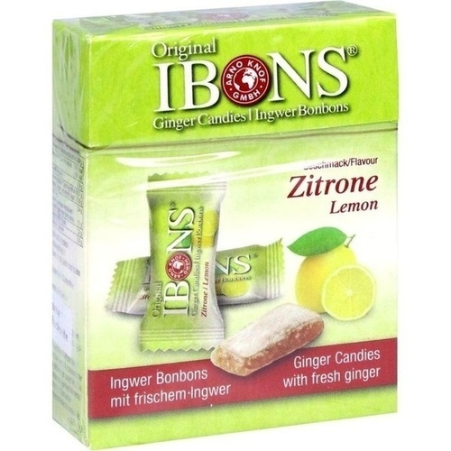 IBONS Zitrone Ingwerkaubonbons Original Schachtel, 60 G, Arno Knof GmbH